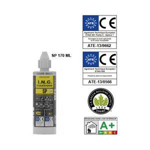 ING Fixations A050025 - Résine S.P 2 composants couleur sable 175ml
