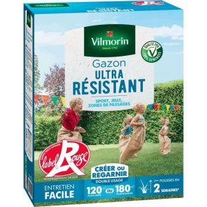 Vilmorin Semences de gazon ultra-résistant Label Rouge - 3 kg - 3 kg - Pureté spécifique 10 fois supérieure - Taux de germination supérieur de 10%