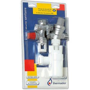 """Thermador Groupe de sécurité droit 3/4"""""""" (20/27) avec siphon et réducteur de pression -"""