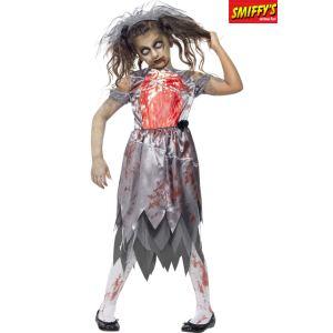 Déguisement zombie mariée fille Halloween (7 à 15 ans)
