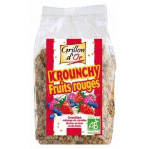 Grillon d'Or Krounchy Fruits Rouges - Croustillant mélange de céréales Bio dorées au four et de fruits (500 g)