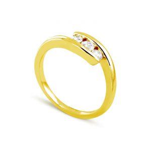 Rêve de diamants 3612030095641 - Bague en or jaune sertie de diamants