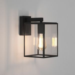 Astro Applique extérieure carrée transparente Box Lantern 270 IP23 - Noir