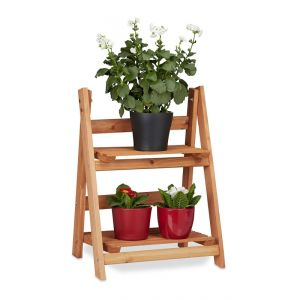 Escalier étagère meuble pour plantes bois 51 cm