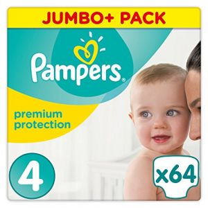 Pampers Premium Protection - Couches Taille 4 (8-16 kg) - Jumbo+ Pack (x64 couches)