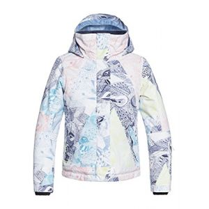 Roxy Jetty Veste Fille Bright White_Alska Bird FR : L (Taille Fabricant : L)
