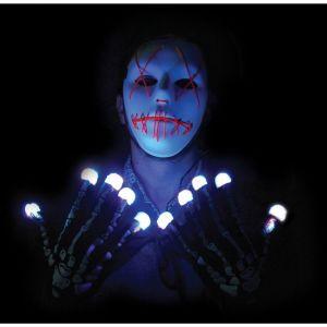 Rubie's Paire de gants squelette lumineux