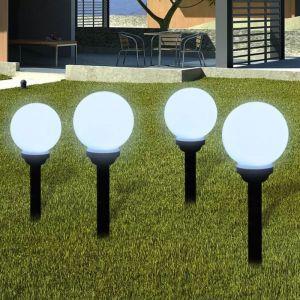 VidaXL Boule solaire extérieure 15cm 4 pièces
