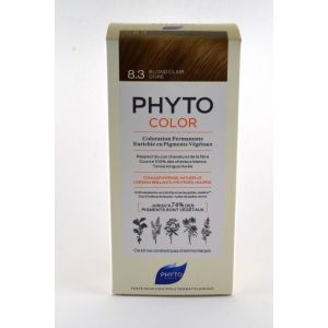 Phyto Paris Coloration Permanente - 8.3 Blond clair doré - 112 ml