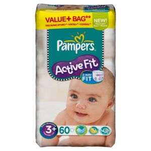 Pampers Active Fit taille 3 Midi 4-9 kg - 60 couches
