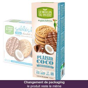 Le Moulin du Pivert Sablés Plaisir Coco Bio Chocolat au lait 130g