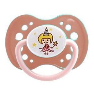 Dodie 5410978 - Sucette anatomique Fille avec anneau en silicone N°37 (18 mois +)
