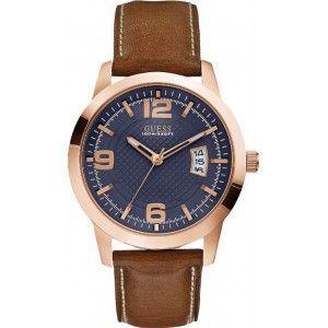 Guess W0494G - Montre pour homme avec bracelet en cuir