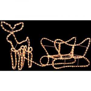 VidaXL Cordon lumineux de Noël Renne et traîneau 110 x 24 x 47 cm