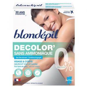 Blondépil Décolor' sans ammoniaque - Gel décolorant visage et corps
