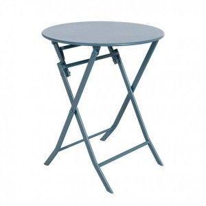 Hesperide Table de jardin ronde Greensboro Ø 60 cm Bleu orage