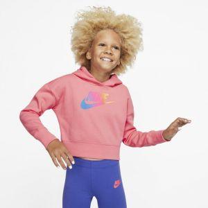 Nike Sweat à capuche court Sportswear Fille plus âgée - Rose - Taille XL - Female