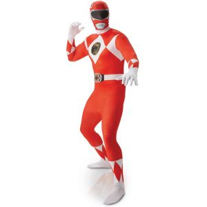 Rubie's SECONDE PEAU POWER RANGERS ROUGE-TAILLE L