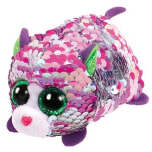 Jura Teeny Ty sequins - Peluche Lilac le chat 8 cm