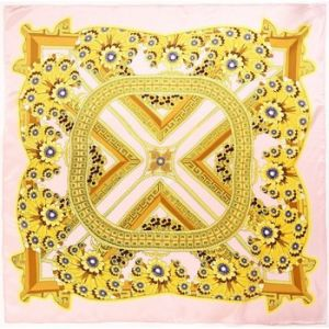 Allée du foulard Carré de soie Premium Aleja Rose