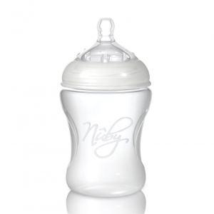Image de Nûby Biberon Natural Touch en polypropylène 240 ml avec tétine SoftFlex en silicone débit moyen