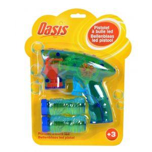 Oasis Pistolet à bulles LED + recharge 120 ml