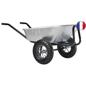 Haemmerlin 306015201 - Brouette Expert Twin galva roues gonflées 140 L