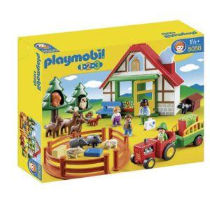 Playmobil 5058 - 1.2.3 : Coffret maison forestière avec animaux