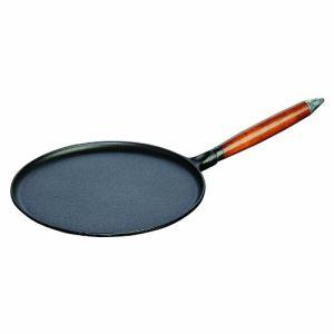 Staub 1212823 - Crêpière avec manche en bois (28 cm)