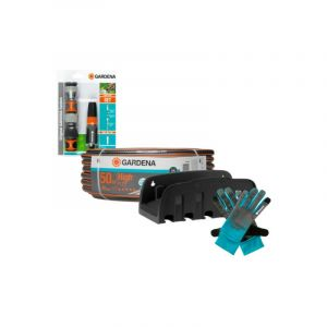 Gardena Pack tuyau Comfort HighFLEX 50 m - kit arrosage de base tuyau 19 mm - Gants de jardin taille L