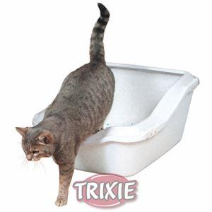 Trixie Bac à litière Cleany Cat avec rebord (45 x 21 x 54 cm)