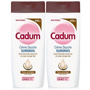Cadum Crème Douche Surgras à l'Huile d'Amandes Douces Bio et De Coco Bio Vierge - 400 ml