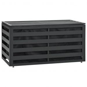 VidaXL Boîte de rangement de jardin Aluminium 100x50x50 cm Anthracite