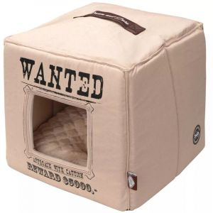 D&D Dream and Dare D&D Coussin Cube Wanted - 40 x 40 x 40cm - Beige