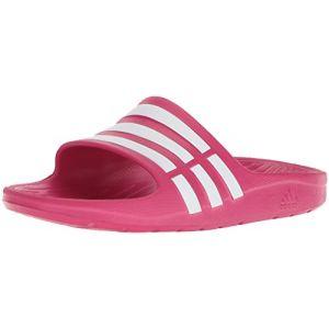 69f866a65f0e0 adidas Duramo Slide K - Sandales natation - Enfant - Fuschia Blanc - 35 EU