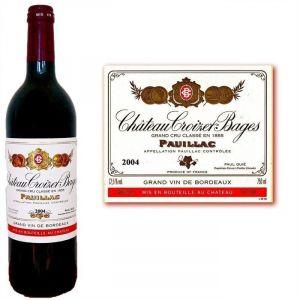 Château Croizet Bages 2004 - Vin rouge de Bordeaux (AOC Pauillac)