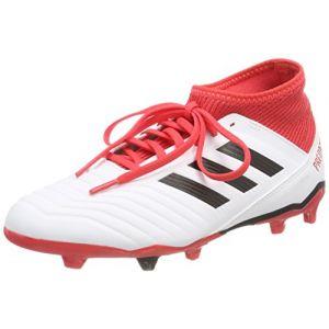 Adidas Predator 18.3 FG J, Chaussures de Gymnastique Mixte Enfant, Multicolore (FTWR White/Core Black/Real Coral S18), 38 EU