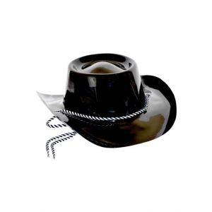Chapeau cow boy pvc noir adulte