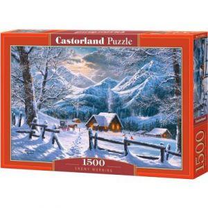 Castorland Puzzle 1500 pièces : Matin enneigé