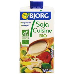 Bjorg Soja cuisine bio, préparation culinaire à base de soja stérilisée UHT - La brique de 250ml