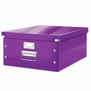 Leitz 6045-00-62 - Boîte de rangement Click & Store, format A3, en PP, coloris violet