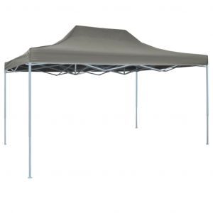 Tente pliable escamotable 3 x 4,5 m Anthracite VIDAXL
