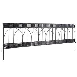 Windhager Bordure de plate bande Arche en PVC et métal 35 x 100 cm