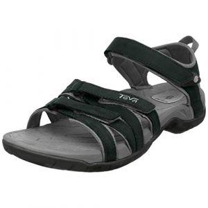 Teva Women's Tirra Leather - Sandales de marche taille 9, noir