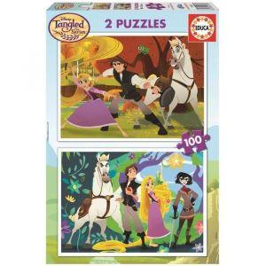 Educa 2 puzzles Raiponce (100 pièces)