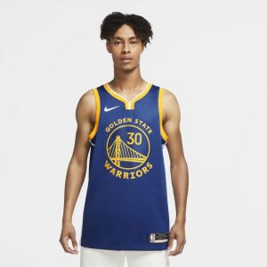 Nike Maillot NBA Swingman Stephen Curry Warriors Icon Edition 2020 - Bleu - Taille L - Male