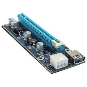 Kolink kit riser PCI-Express 1x vers 16x (PCI-E 6 Broches)