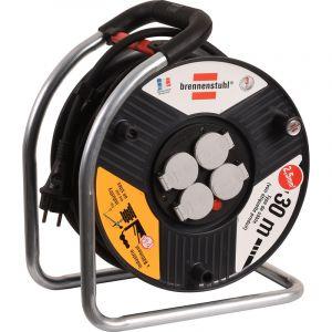 Brennenstuhl Enrouleur SuperSolid protec thermique 4 prises 2P+T 30m - 1208981