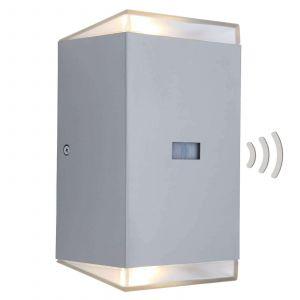Lutec Path ST6058-PIR Applique murale LED extérieure avec détecteur de mouvements 15 W EEC: LED (A++ - E) blanc chaud acier inoxydable