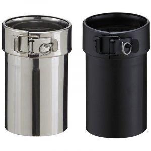 Poujoulat Adaptateur inox pour poêle à granulés - PGI pour poêles à Pellets - Diamètre 80/130 - Finition : Noir mat -